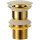 Válvula de lavabo dorado brillo click clack tapón