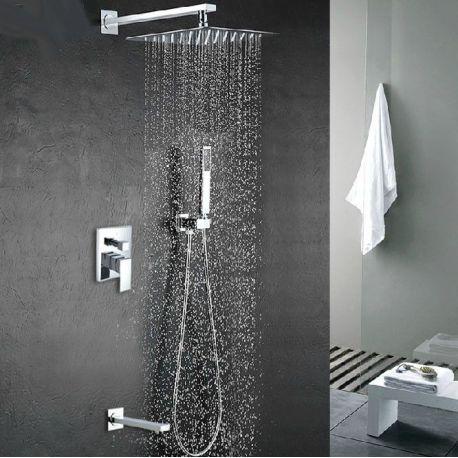 Ducha empotrada pared bañera con rociador extraplano