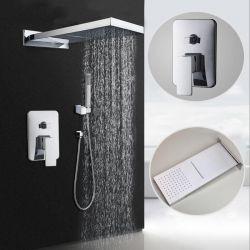 Ducha empotrada pared cuadrada rociador especial (cascada y lluvia)