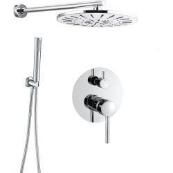 Conjunto de ducha empotrada redonda pared cromo