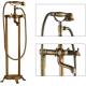 Griferia de bañera exenta retro dorado envejecido  bimando vintage