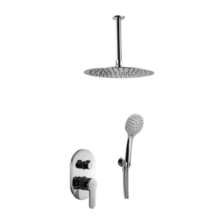 Conjunto de ducha empotrado a techo serie Omnia
