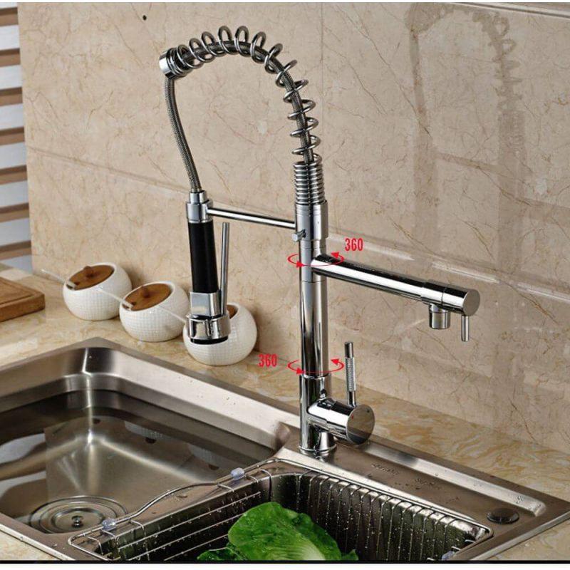 Grifo de cocina giratorio extraible cromo monomando 2 - Grifo para cocina ...