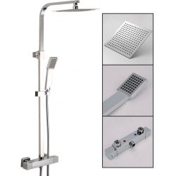 Barra de ducha termostática cuadrada