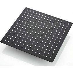 Rociador de ducha negro mate 30 x 30 cm extraplano antical
