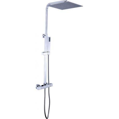 Columna de ducha termostática cuadrada (latón)