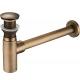 Sifón + válvula click clack de lavabo dorado envejecido tapón