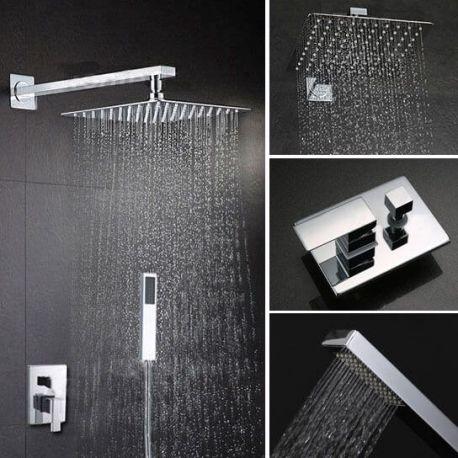 ducha empotrada pared con rociador extraplano duchas
