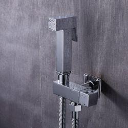 Grifo de bidet cuadrado empotrado en pared (1 vía)