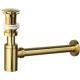 Sifón + válvula click clack de lavabo dorado cepillado tapón