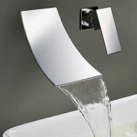 Grifo de lavabo empotrado cascada duchas empotradas for Ducha cascada