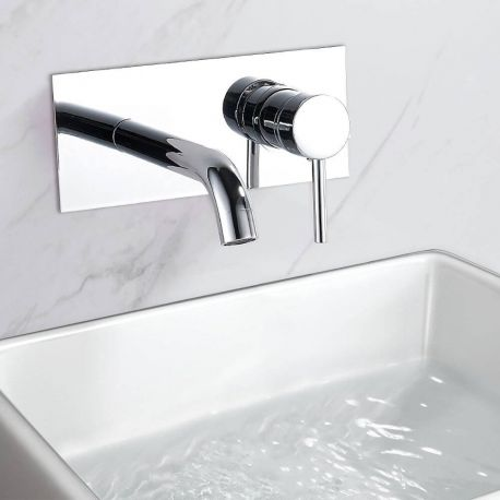 grifo de lavabo empotrado pared ca a duchas empotradas