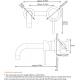 Grifo monomando lavabo empotrado pared 15cm caño corto cromo